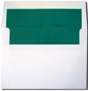 a7 white with teal lined envelopes